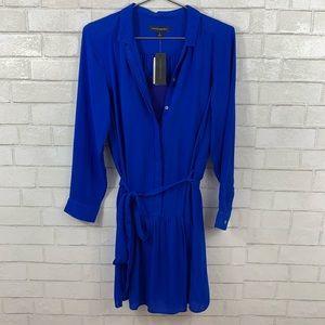 BANANA REPUBLIC NWT COBOLT BLUE BUTTONED DRESS 6